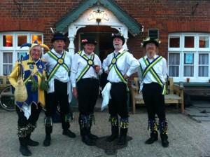 Morris Men outside The Crown