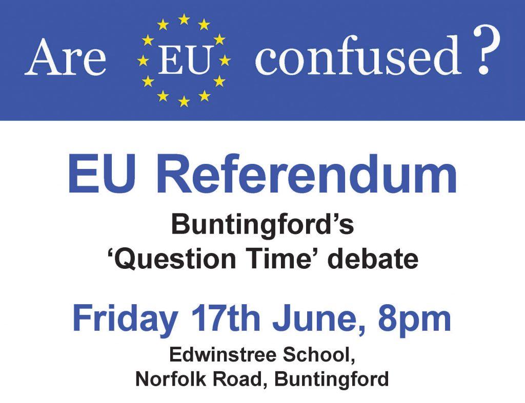 BCOC EU Debate A4 Poster - Front