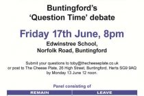 Are EU confused  – Question time style debate
