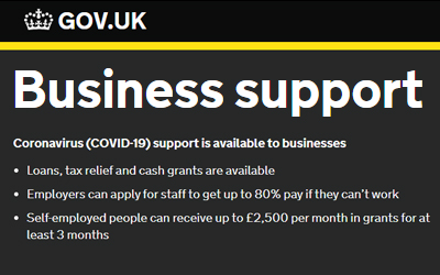 Coronavirus (COVID-19) support is available to businesses
