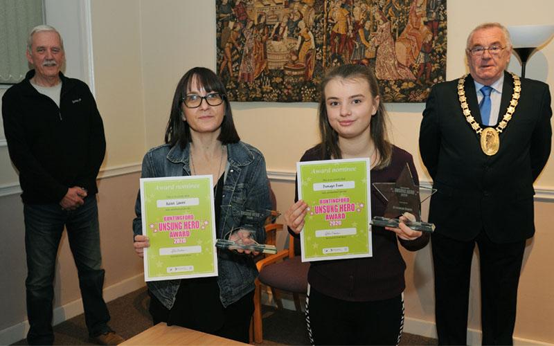 Unsung Heros 2020 Winners - Karen Lavers and Bronwyn Evans